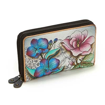 Anuschka Women's FLORAL FANTASY wallet