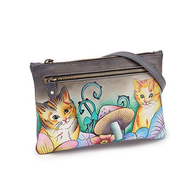 Printed Cats In Wonderland clutch