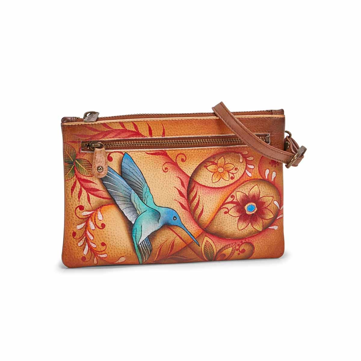Women's FLYING JEWELS tan clutch
