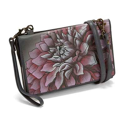 Printed Dreamy Dahlias convert. clutch