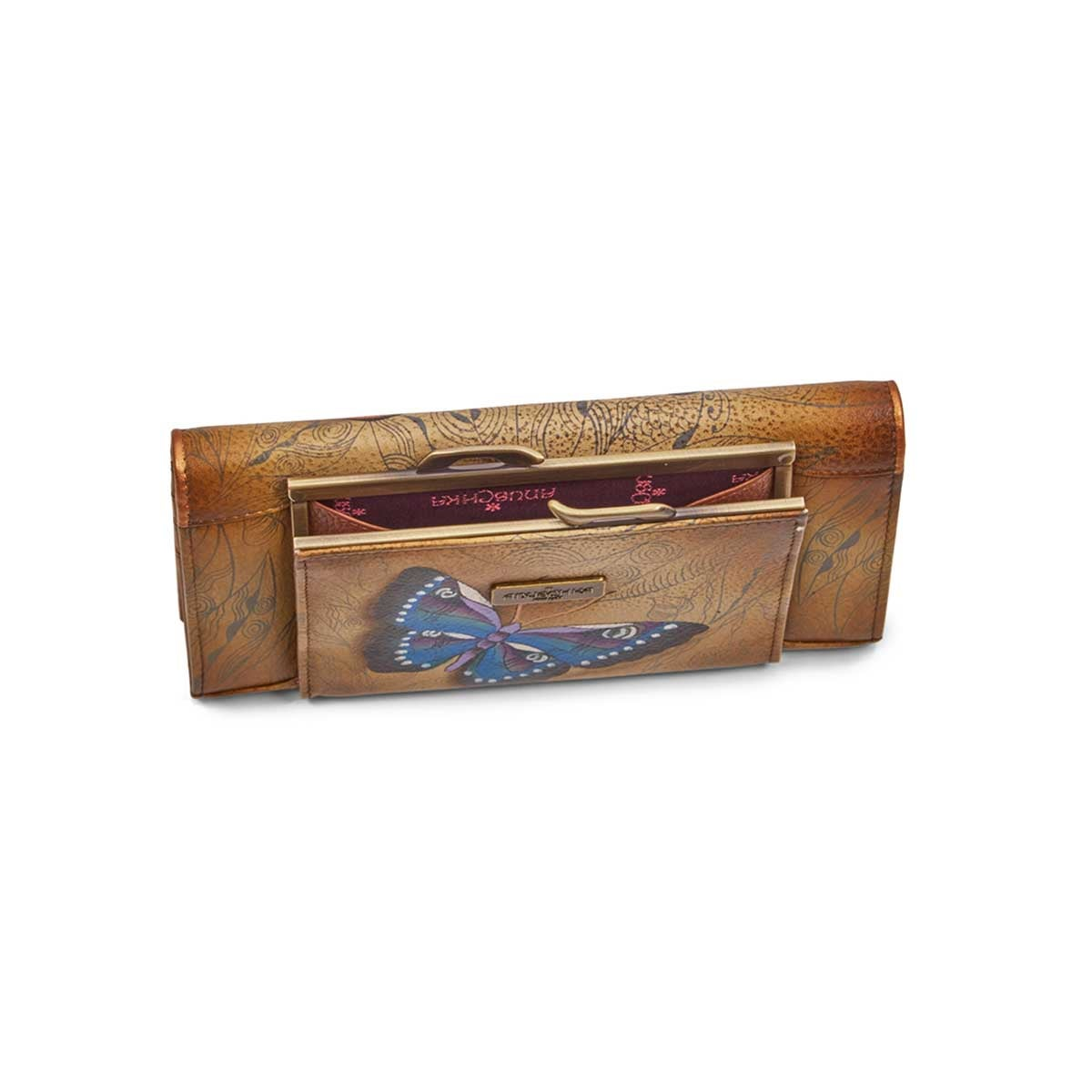 Painted lthr Earth Song wallet