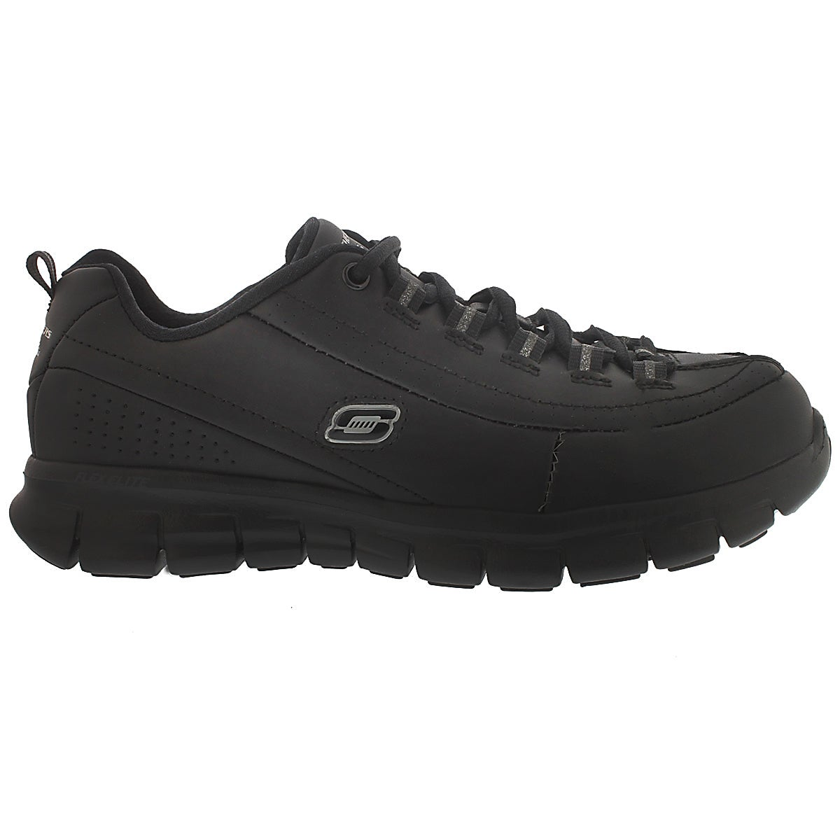 Lds Elite Status blk laceup sneaker-Wide