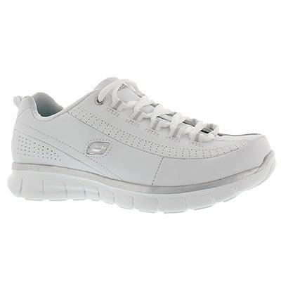 Skechers Women's ELITE STATUS white lace-up sneakers - WIDE