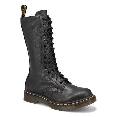 Lds 1B99 14-Eye black casual boot