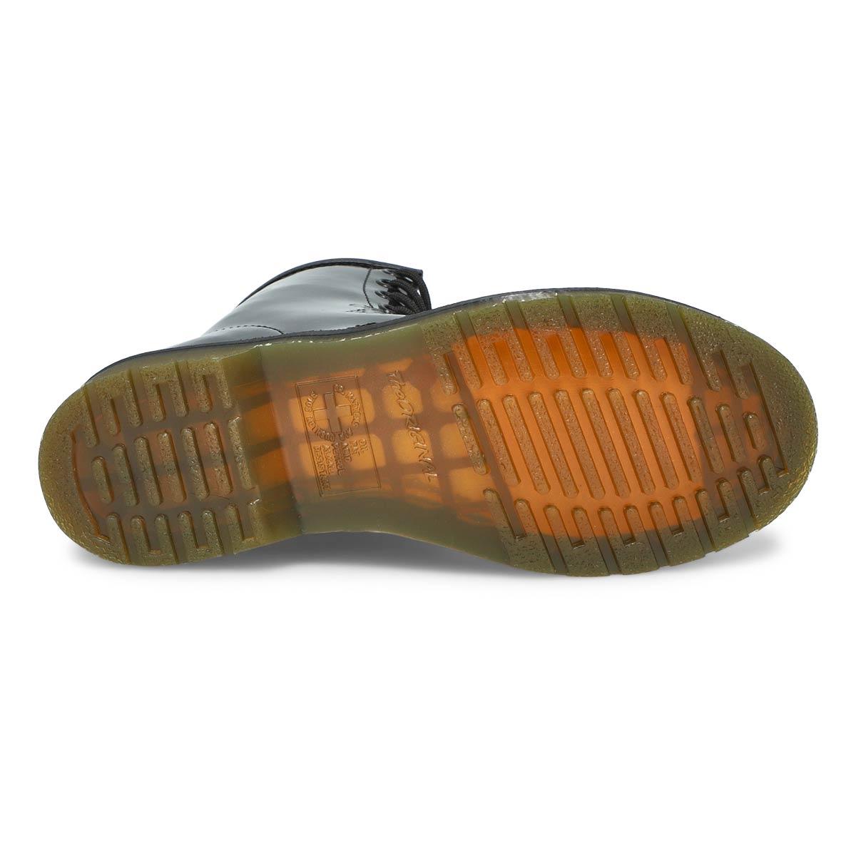 Lds 1460 8 eye black pat leather boot