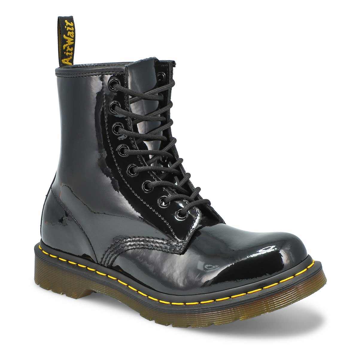 Women's 1460 8-Eye black patent leather boots