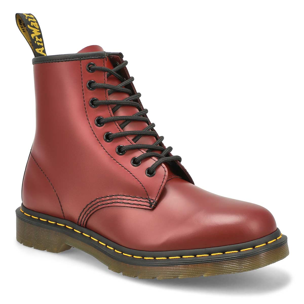 Men's 1460 8-Eye cherry red smooth leather boots