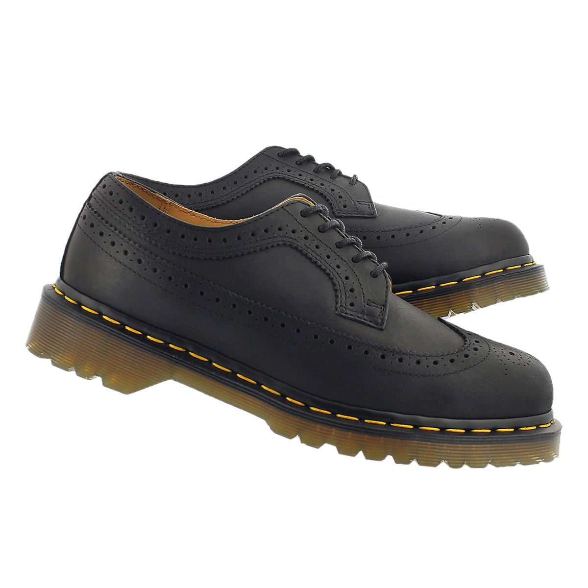 Mns 3989 5 eye blk brogue oxford