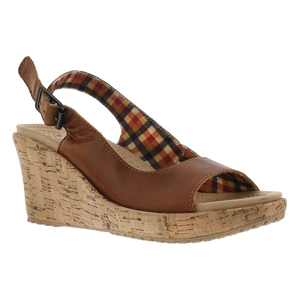 Lds A Leigh cocoa wedge sling
