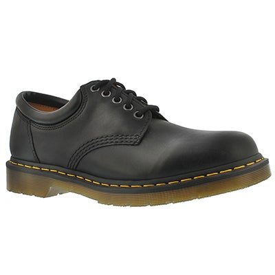 Dr Martens Men's 8053 5-Eye black leather oxfords