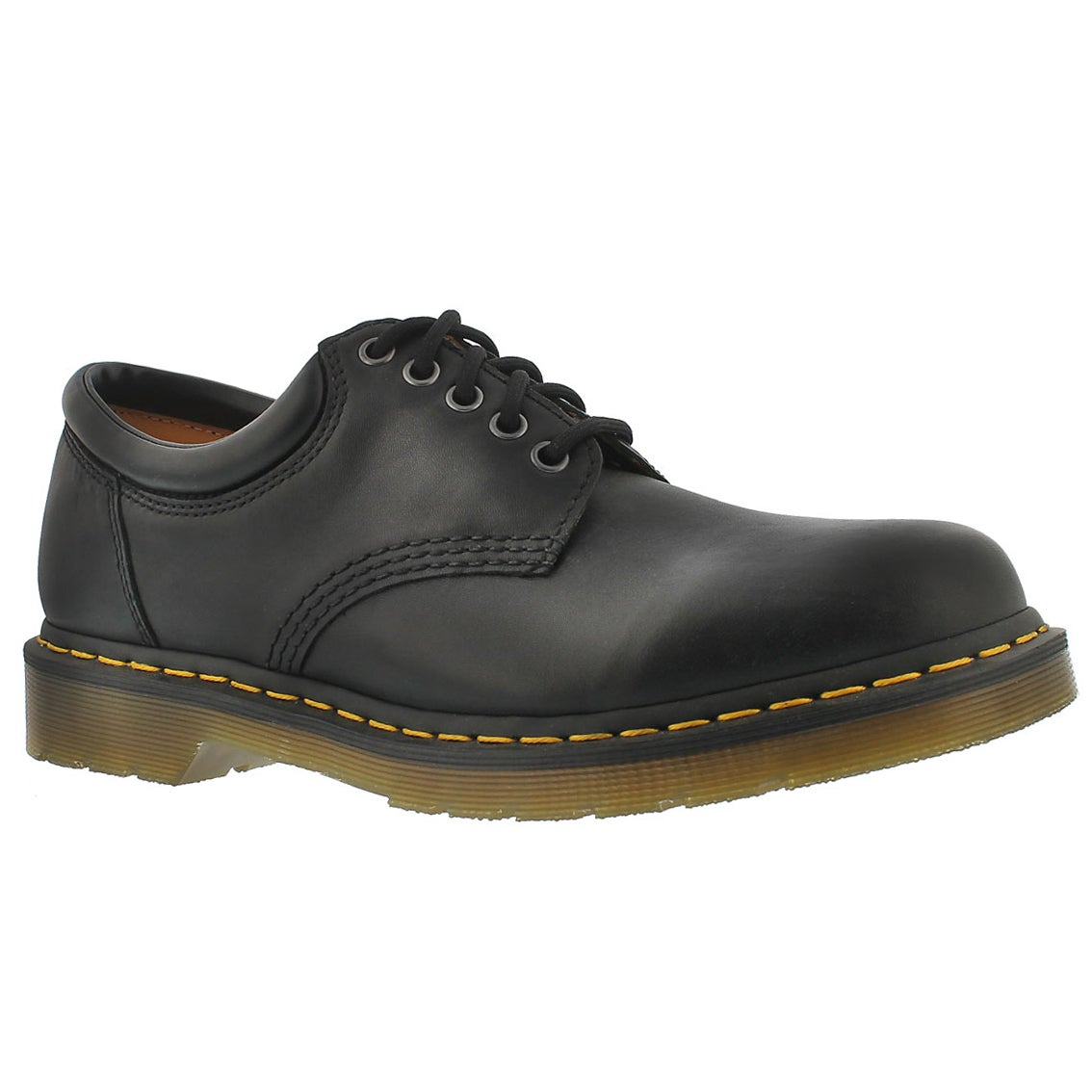 Men's 8053 5-Eye black leather oxfords