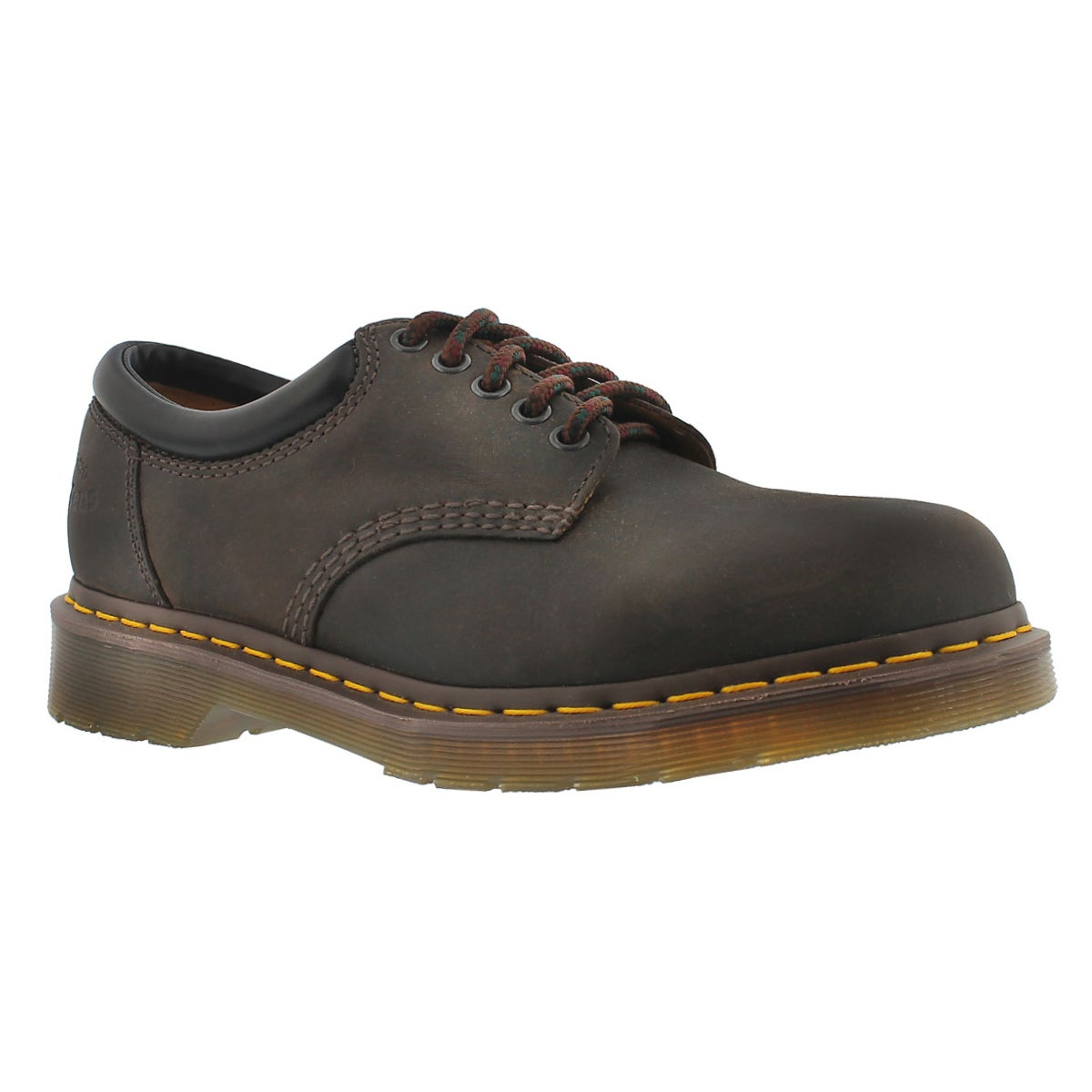 Men's 8053 5-Eye brown crazy horse leather oxfords