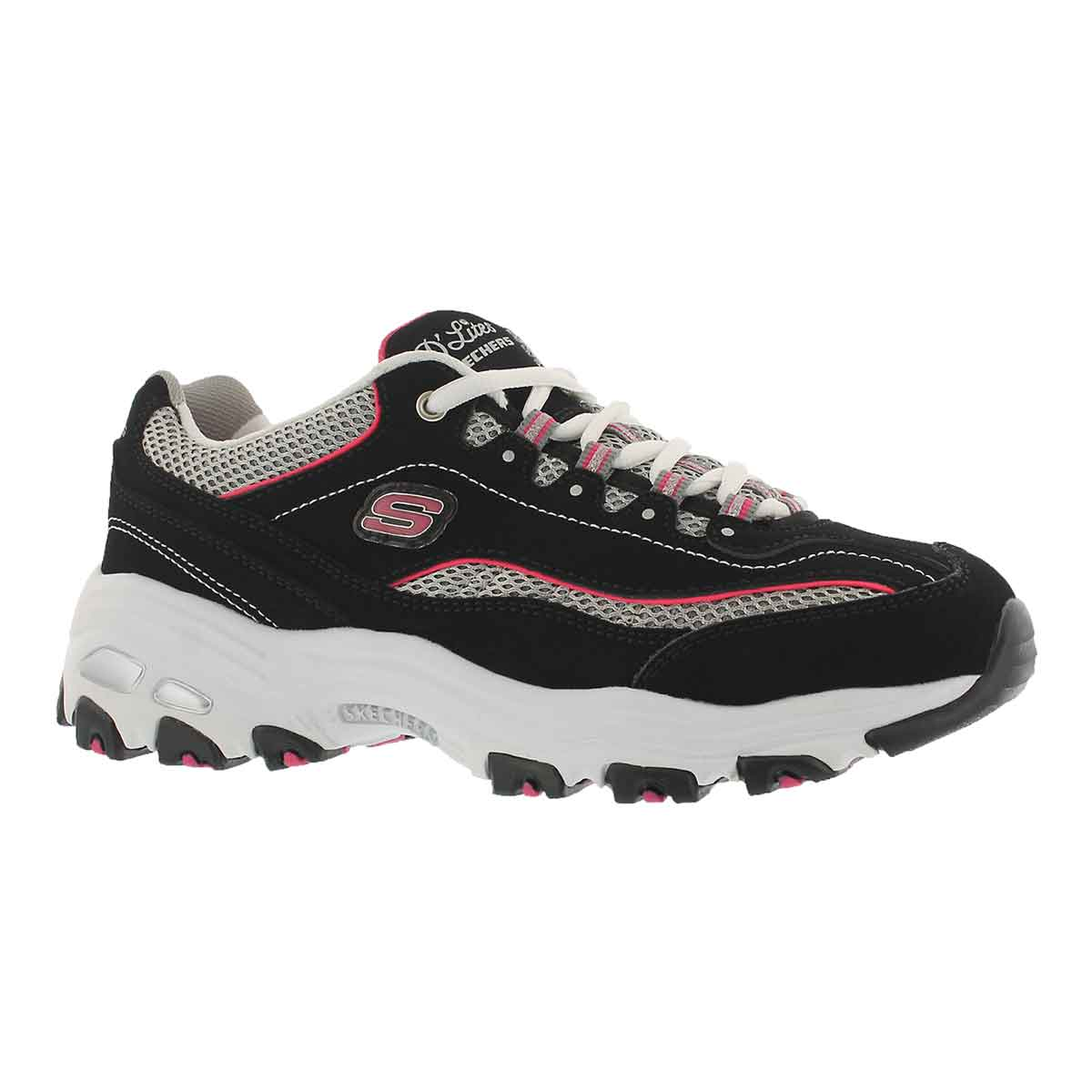 Women's D'LITES LIFE SAVER black/pink sneakers