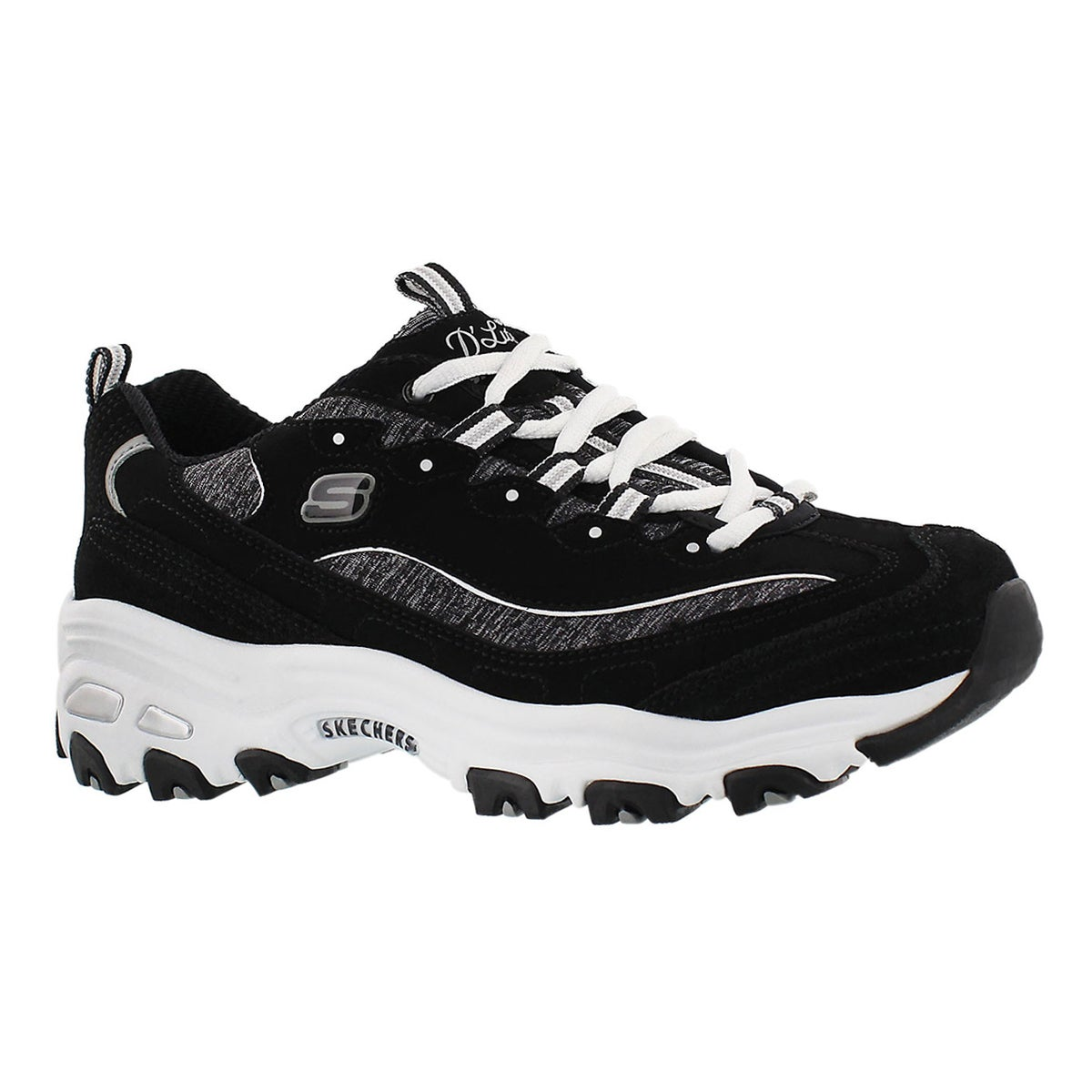 Women's D'LITES ME TIME black/white sneakers