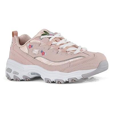 Lds D'Lites Bright Blossoms pnk sneaker