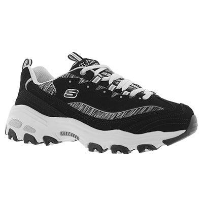 Lds D'Lites Interlude blk/wht sneaker