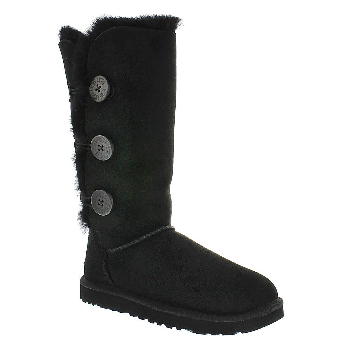 Lds Bailey Triplet black sheepskin boot