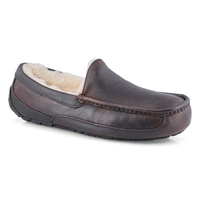 Mns Ascot china tea sheepskin slipper