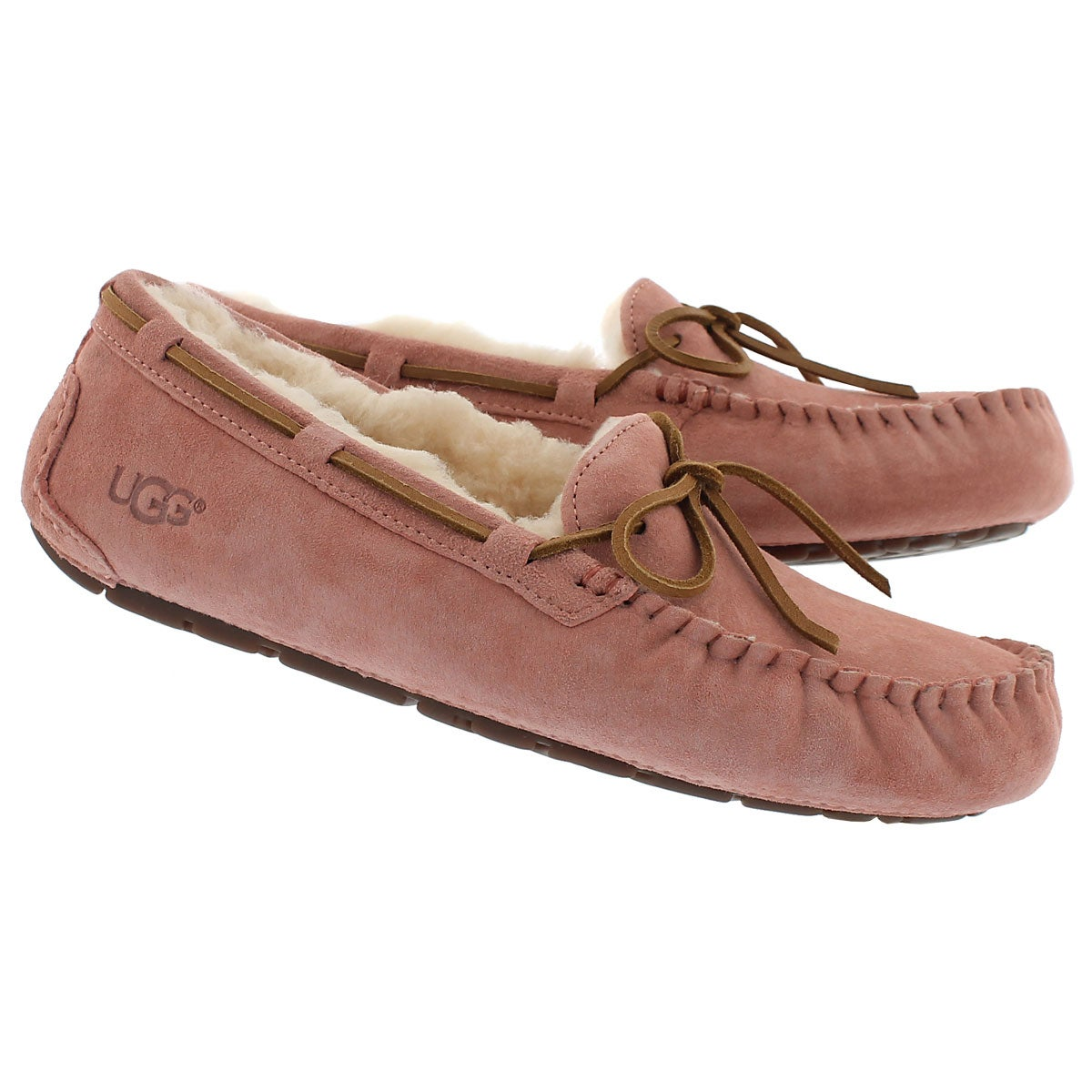 Lds Dakota chemise pink sheepskin moc