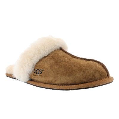 UGG Australia Women's SCUFFETTE II chestnut sheepskin slippers
