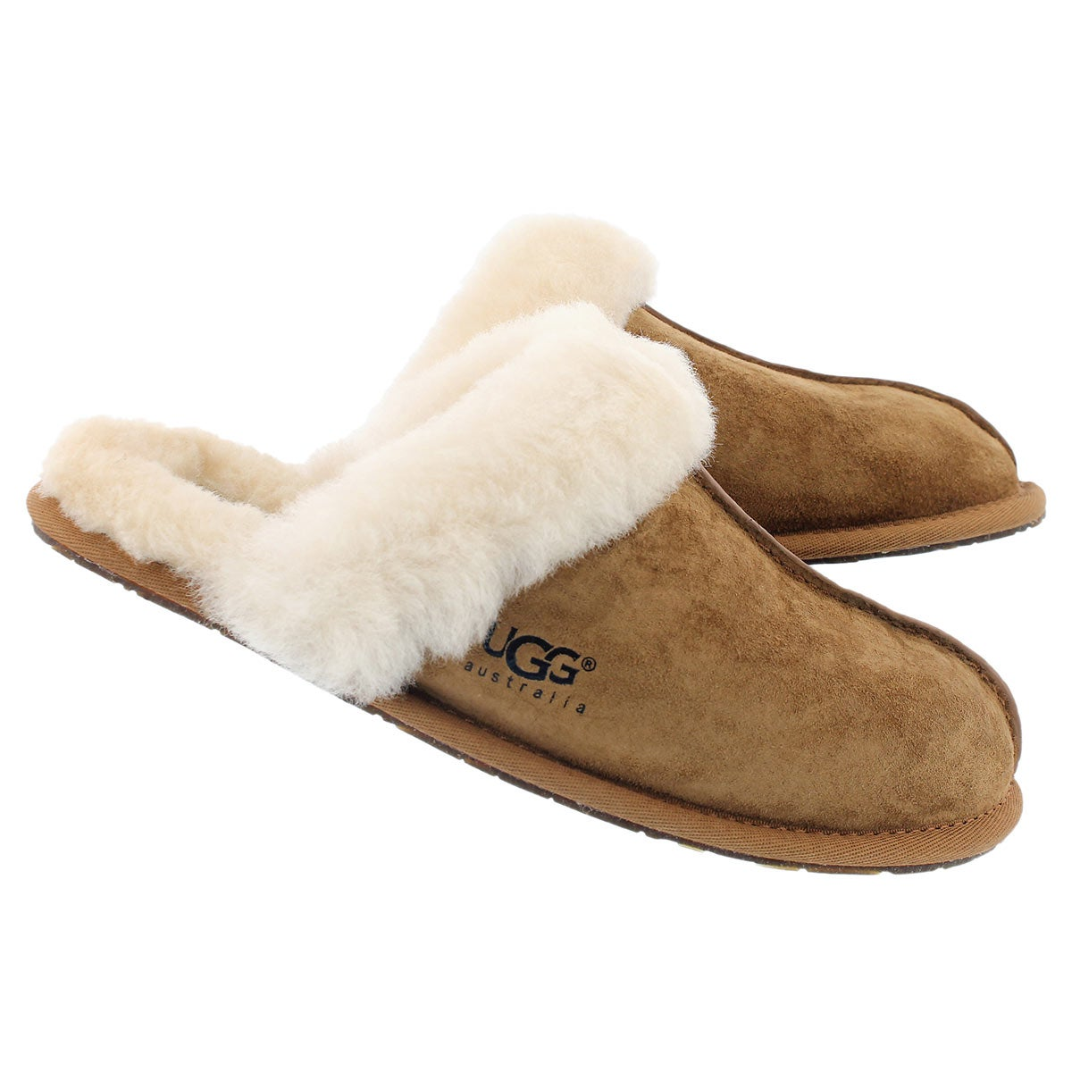 Lds Scuffette chestnut sheepskin slipper