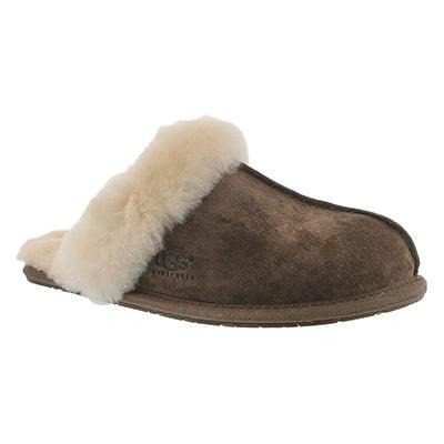 UGG Australia Women's SCUFFETTE II espresso sheepskin slippers