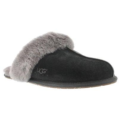 UGG Australia Women's SCUFFETTE black/grey sheepskin slippers