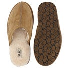 Mns Scuff chestnut sheepskin slipper