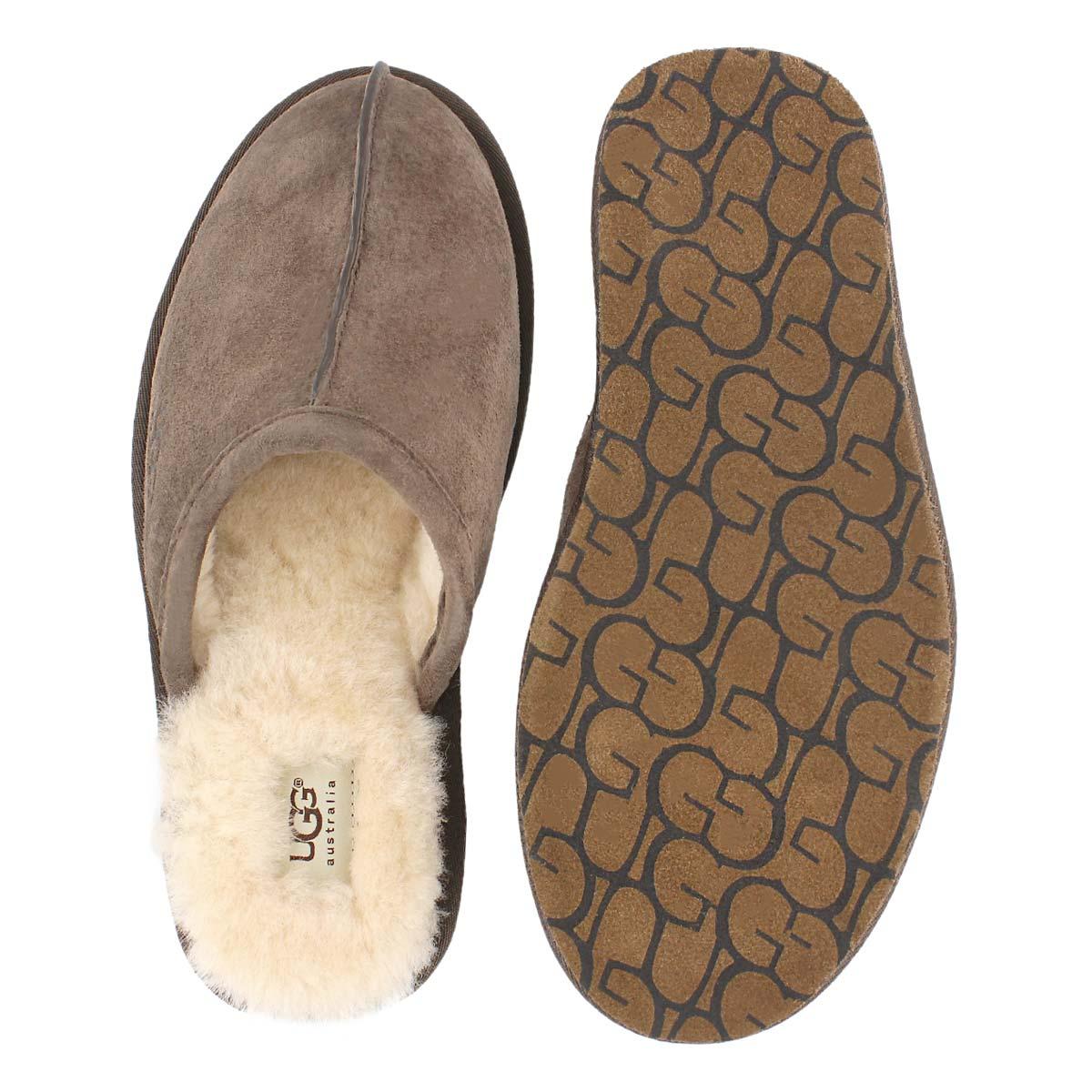 Mns Scuff espresso sheepskin slipper