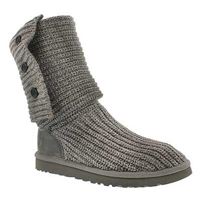 UGG Australia Women's CLASSIC CARDY knit sheepskin fashion boots