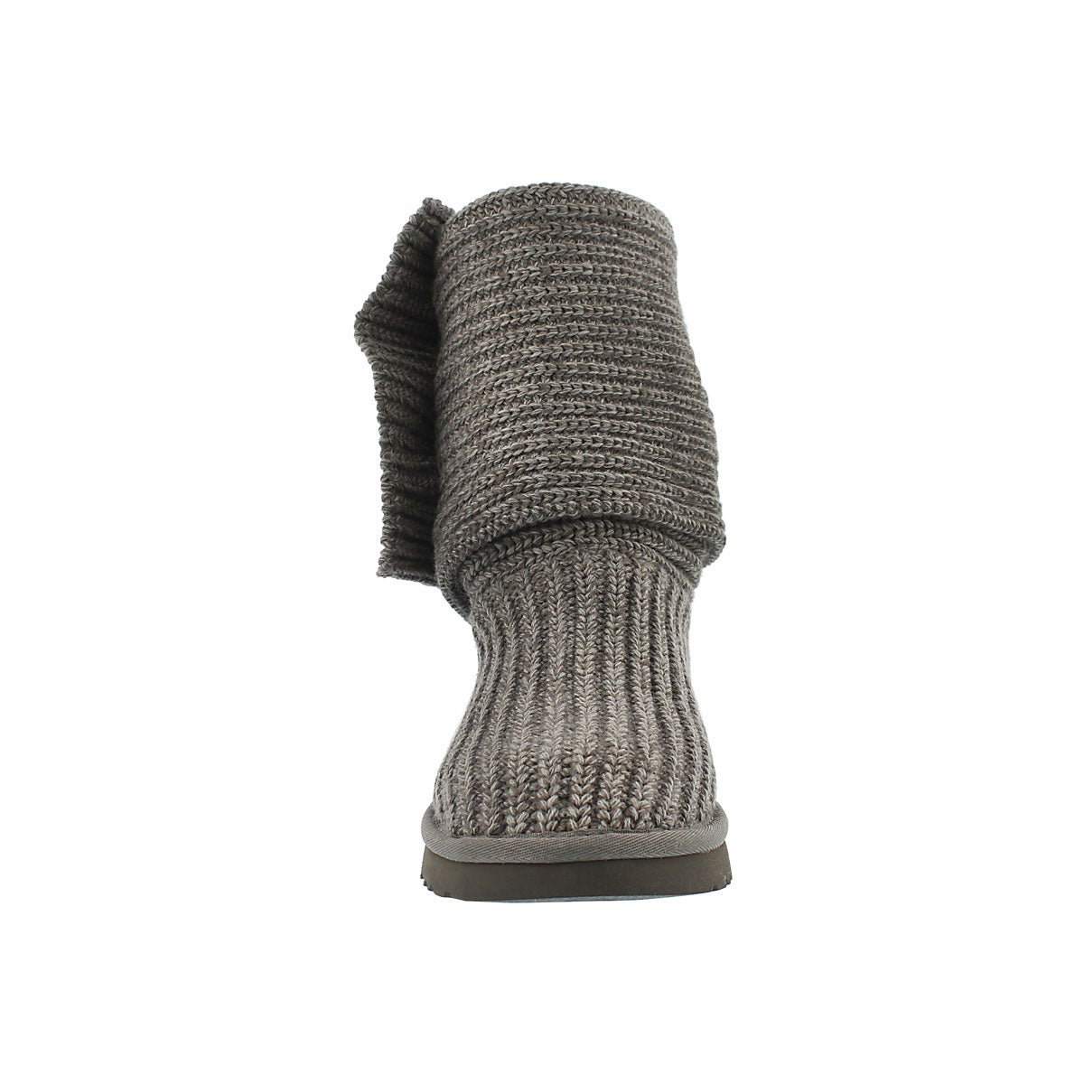 Lds Classic Cardy grey knit button boot