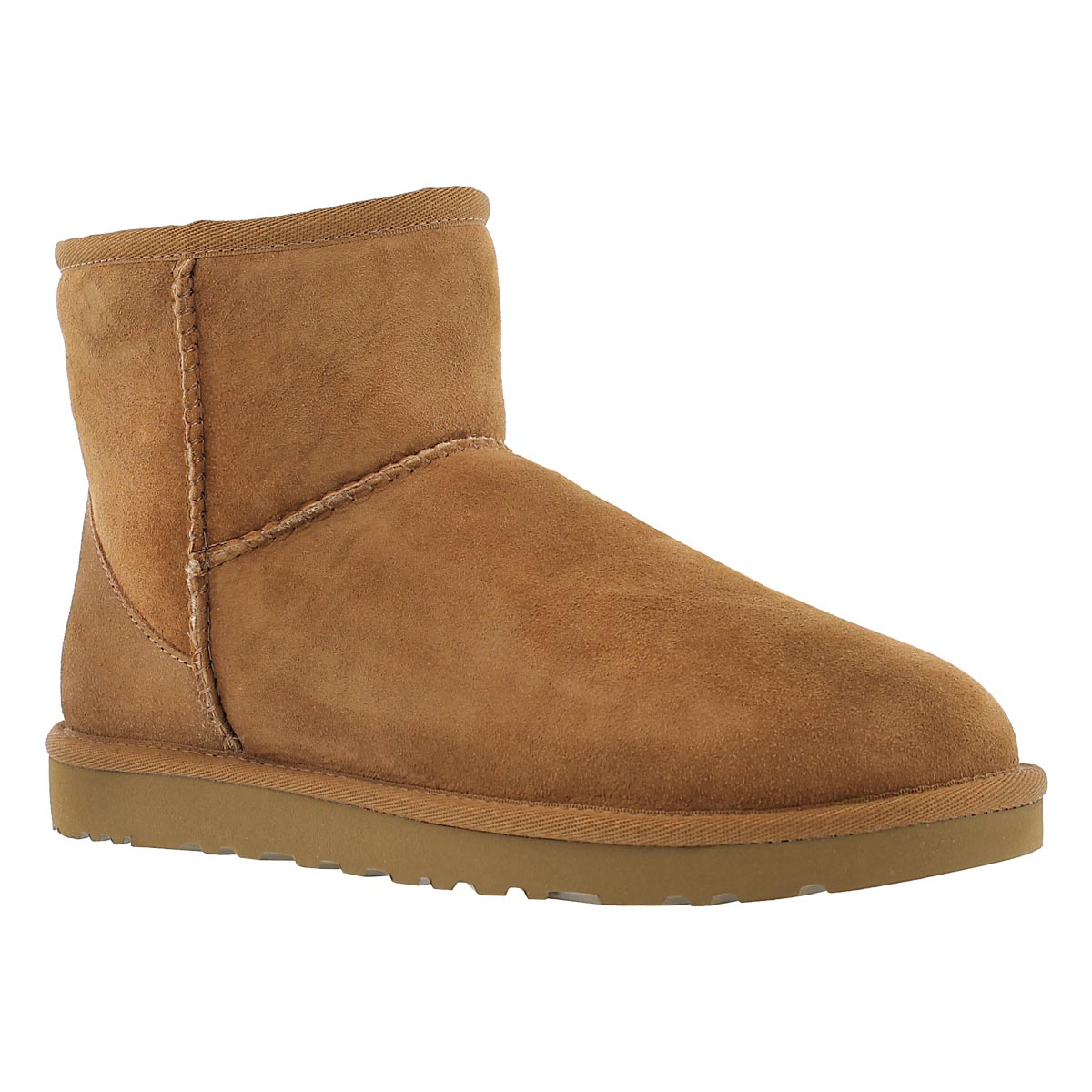 Lds Classic Mini chestnut sheepskin boot