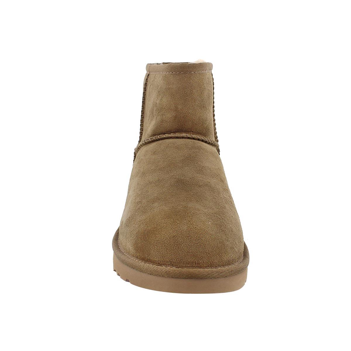 Lds Classic Mini dry leaf sheepskin boot