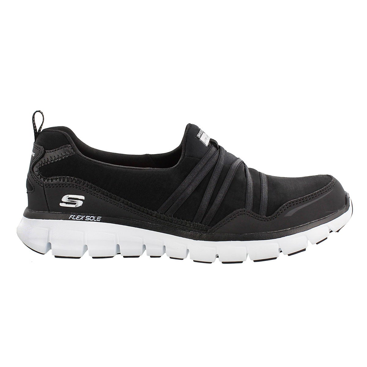 Lds Scene Stealer blk bungee slipon