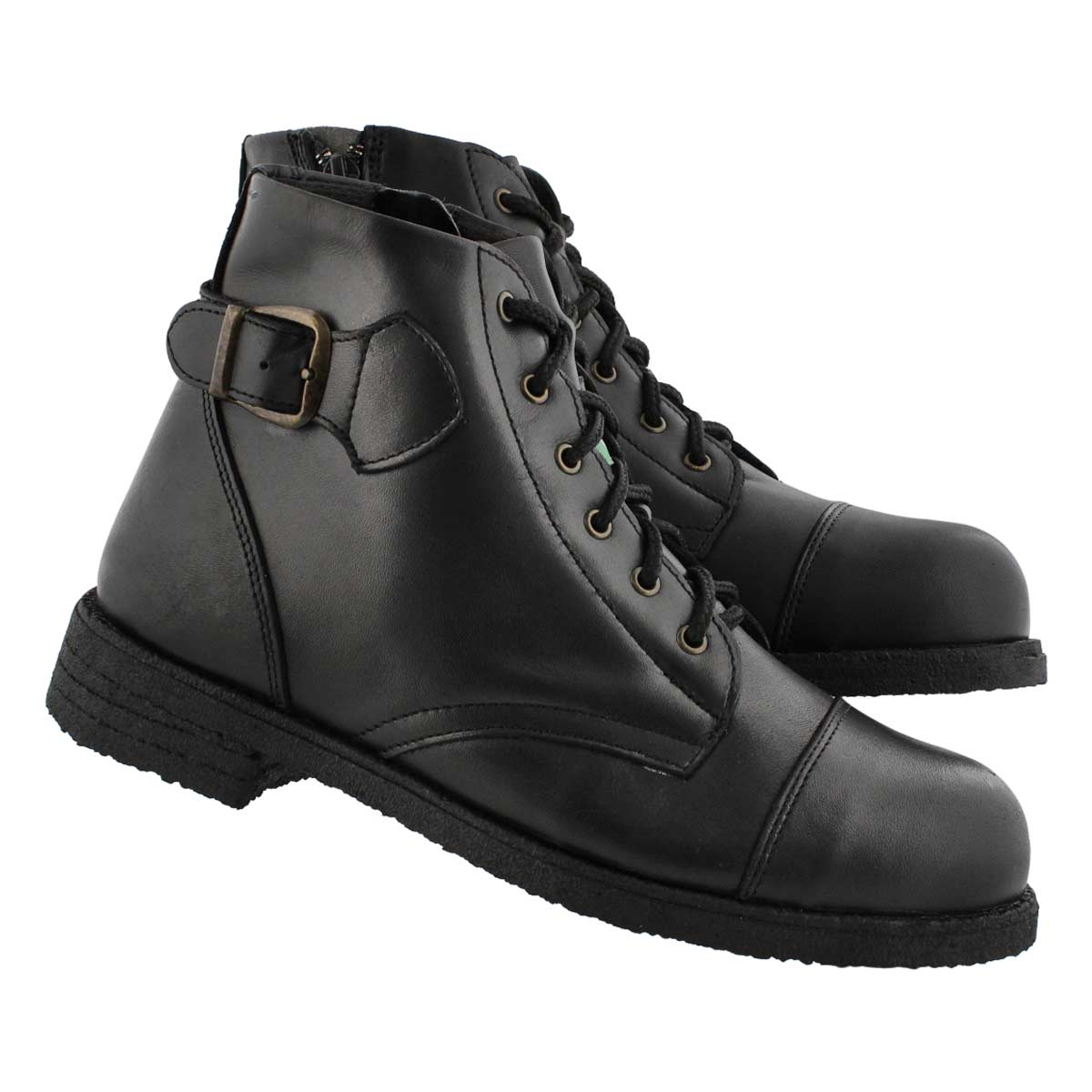 Lds Aviator black CSA lace up boot