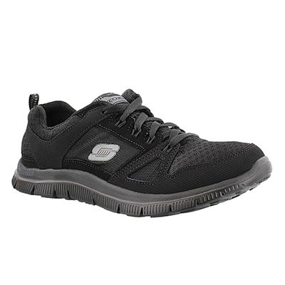 Skechers Women's ADAPTABLE black lace up runners