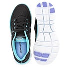 Lds Adaptable blk/turq lace up runner