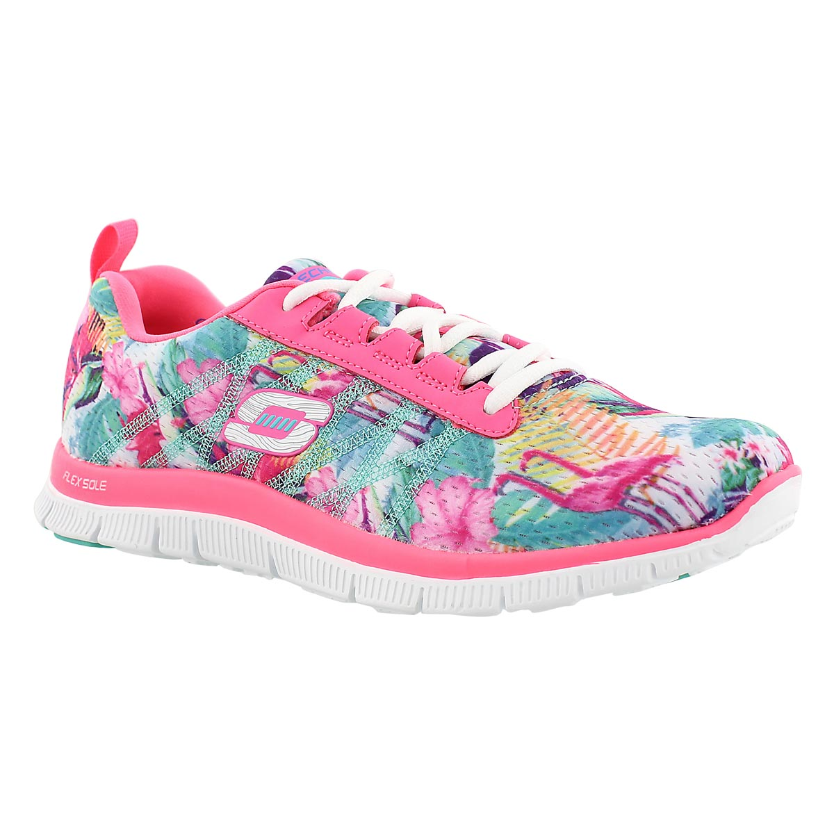 Lds Floral Bloom multi lace up runner