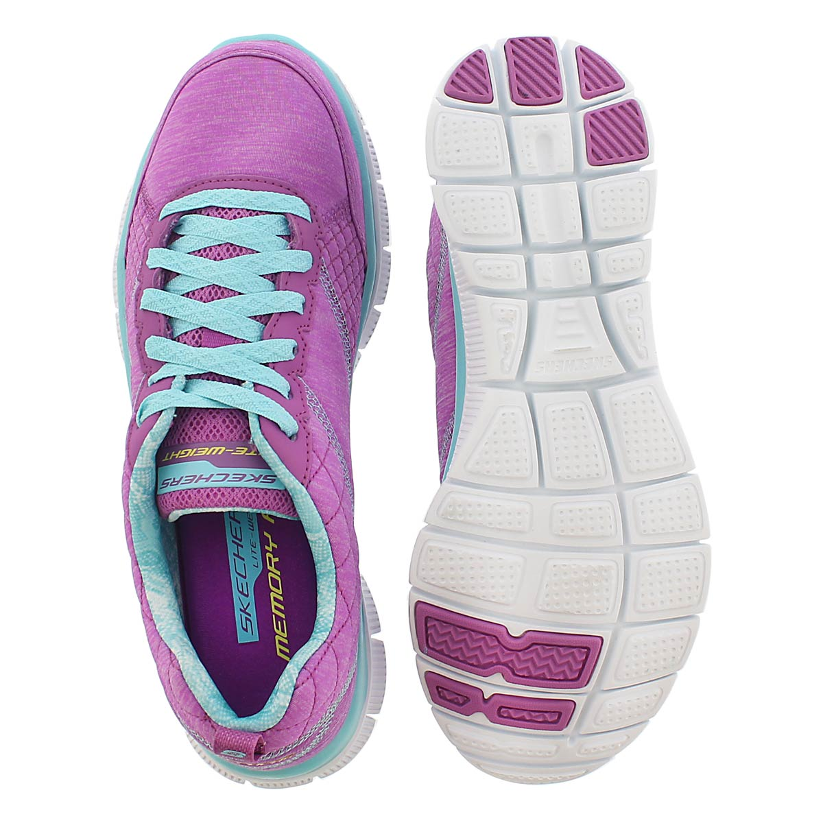 Lds Pretty purple/aqua lace up sneaker