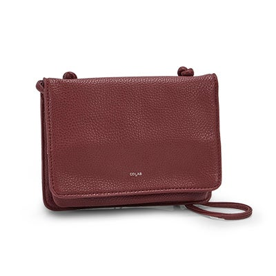 Co-Lab Women's 1211 burgundy cross body organizer