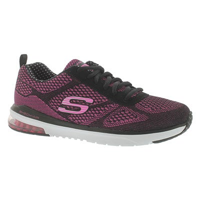 Skechers Women's SKECH-AIR INFINITY black/pink sneakers