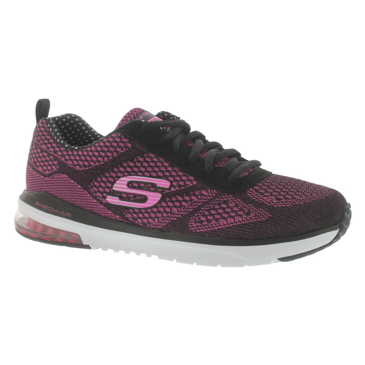 Women's SKECH-AIR INFINITY black/pink sneakers