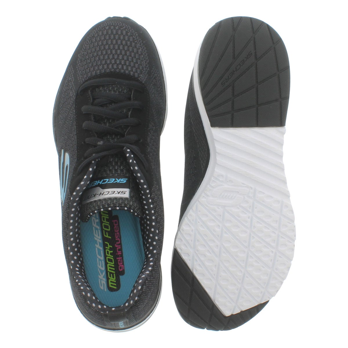 Lds Skech-Air Infinity blk/wht sneaker