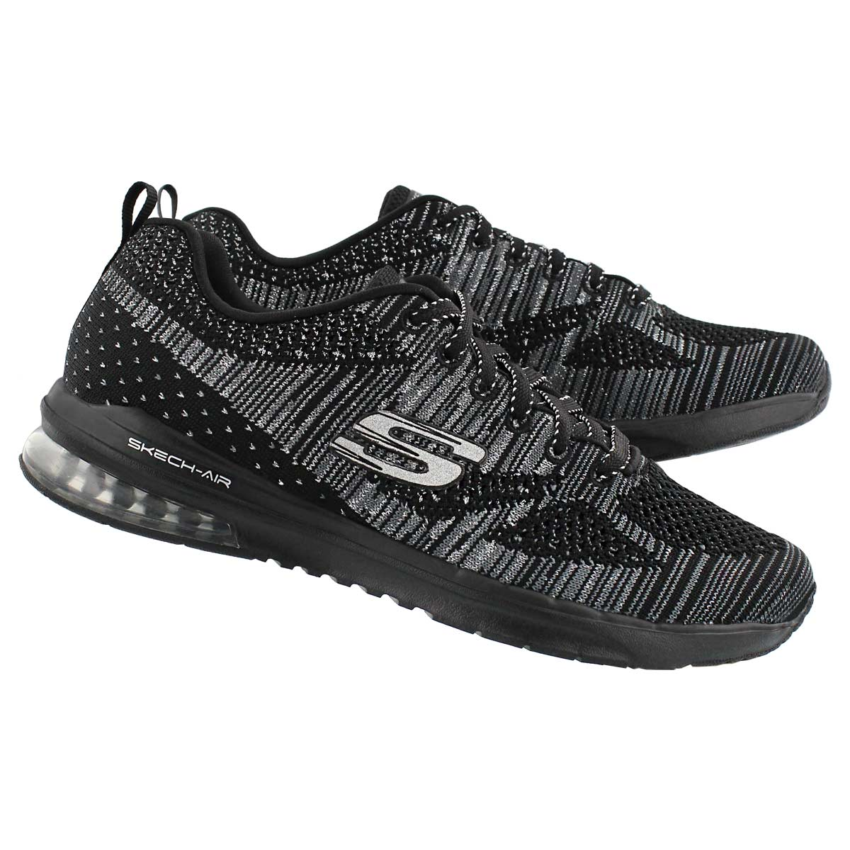 Lds Stand Out black lace up sneaker