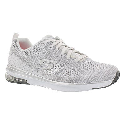 Skechers Women's STAND OUT white/silver lace up sneakers