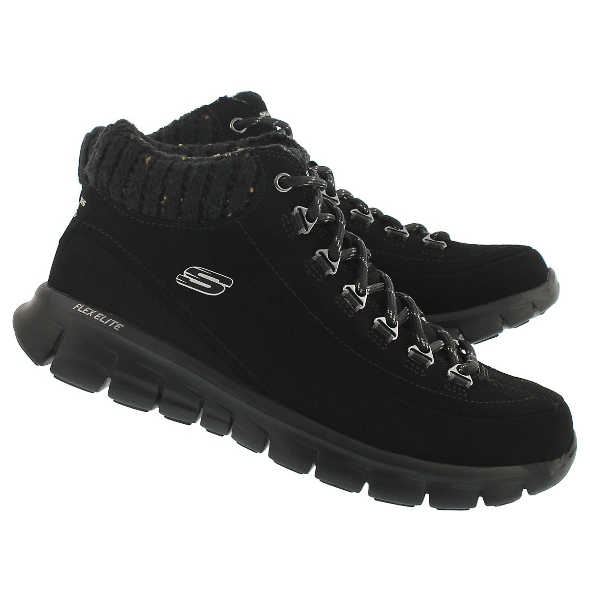 Lds Winter Nights black lace up sneaker