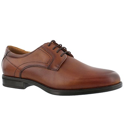 Florsheim Men's MIDTOWN PLAIN TOE cognac dress oxfords -Wide