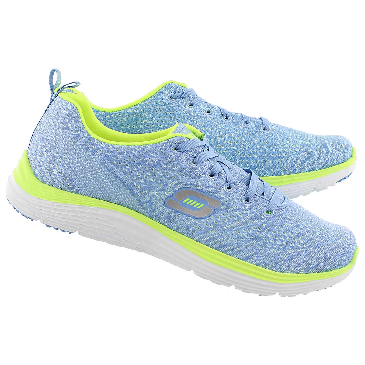 Lds Valeris lt blu/yello lace up sneaker