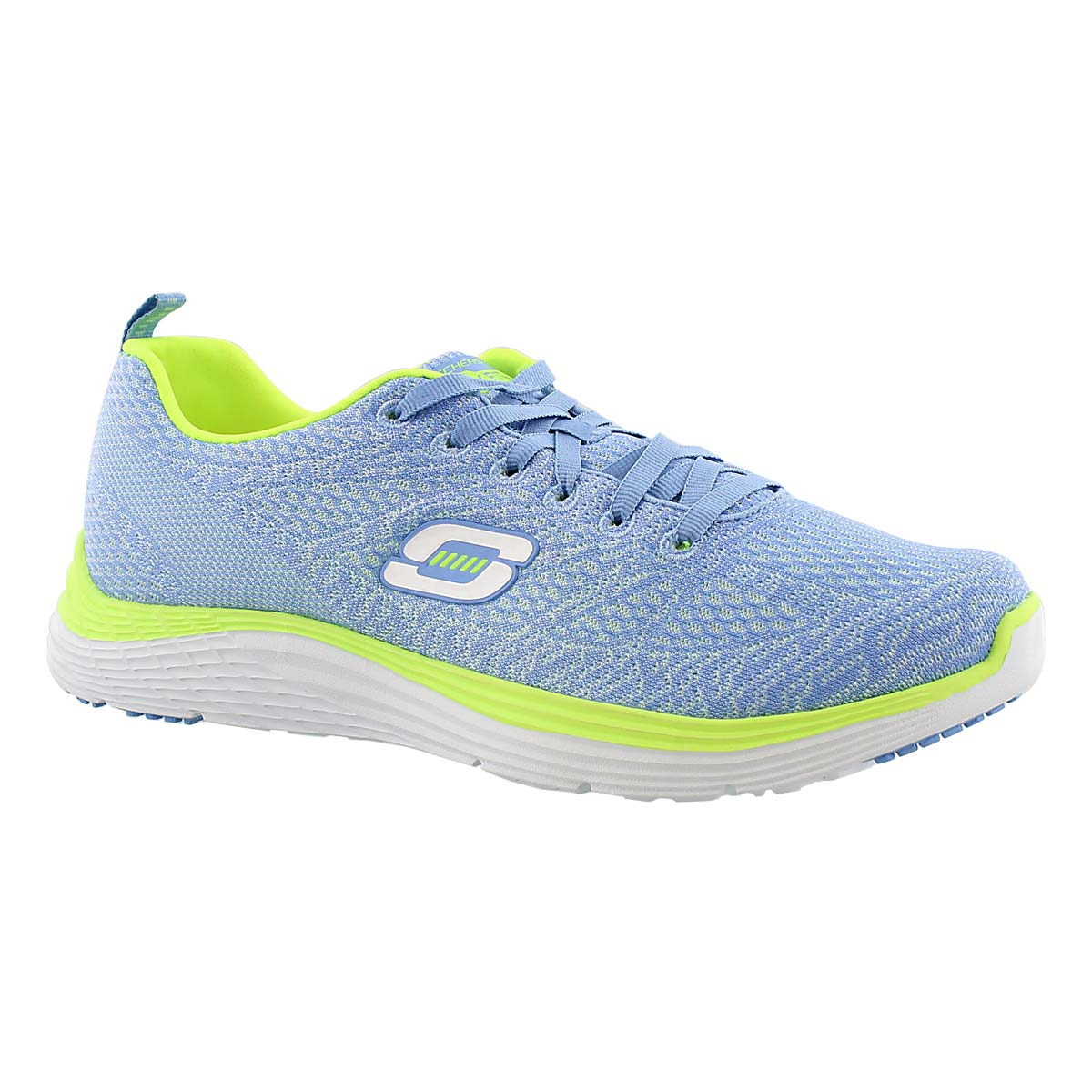 Women's VALERIS light blue/yellow lace up sneakers
