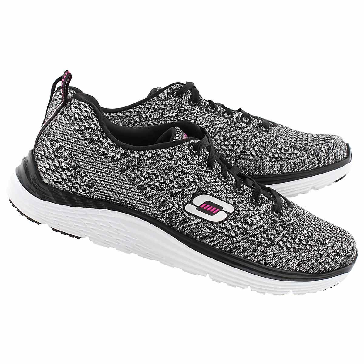 Lds Valeris lt silvr/blk lace up sneaker